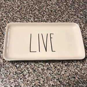 Rae Dunn LIVE tray white LL new! Great gift idea